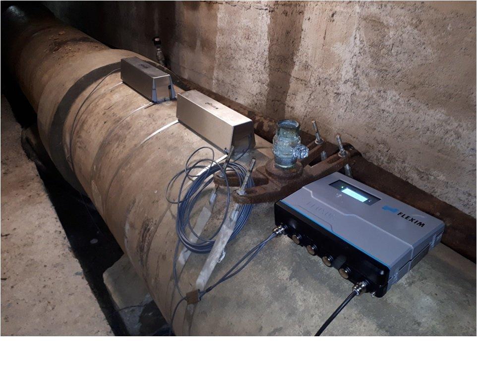 Caudalímetro no invasivo para tuberías de hormigón