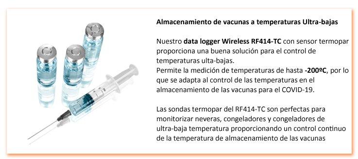 data logger temperatura vacunas COVID-19